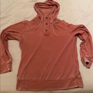 Oakley hooded tshirt - Distressed Red/rust color
